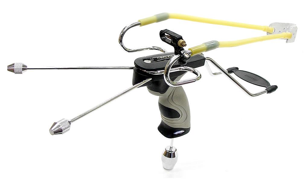 新型ダイヤブロ2スリングショット(ゴム銃・パチンコ)精密照準器・ショットバランサー付